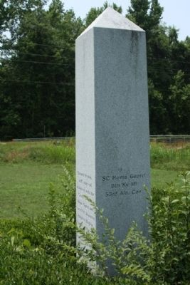 Burwell Boykin / Battle of Boykins Mill Marker, east face image. Click for full size.