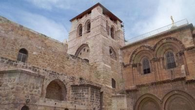 Church of the Holy Sepulcre - on Calvary, the site of Christ's crucifixtion and entombment image. Click for full size.