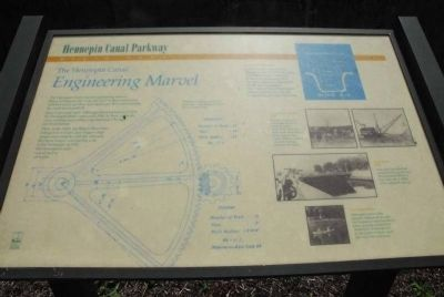 The Hennepin Canal Marker: Engineering a Marvel image. Click for full size.