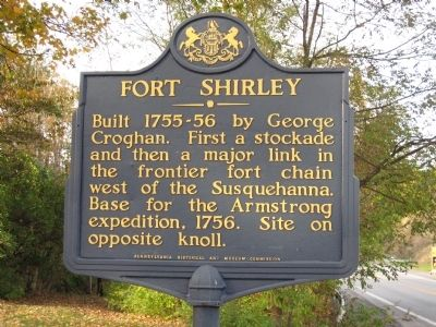 Fort Shirley Marker image. Click for full size.