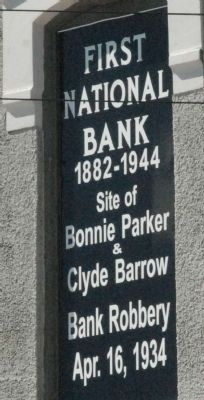 First National Bank Marker image. Click for full size.