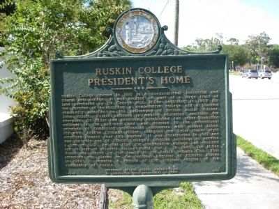 Ruskin College President's Home Marker image. Click for full size.