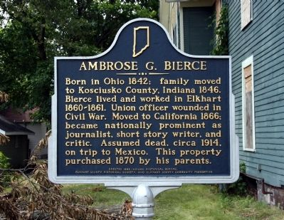 Ambrose G. Bierce Marker image. Click for full size.