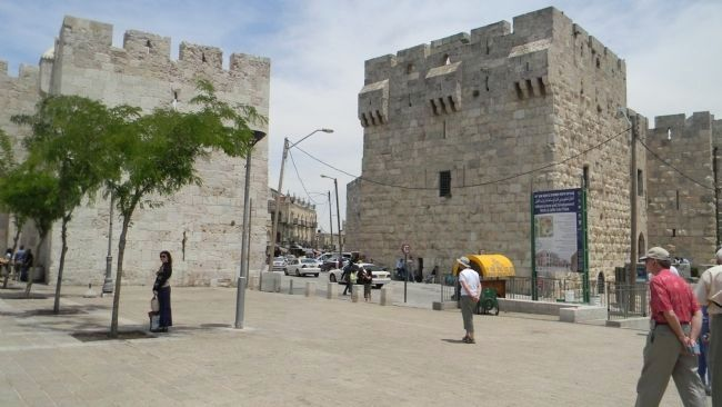 Jaffa Gate - the primary entrance to the Old City of Jerusalem image. Click for full size.