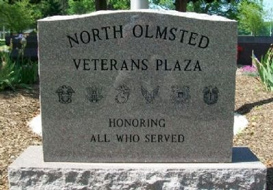 North Olmsted Veterans Plaza Marker image. Click for full size.