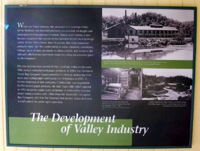 The Development of Valley Industry Marker image. Click for full size.
