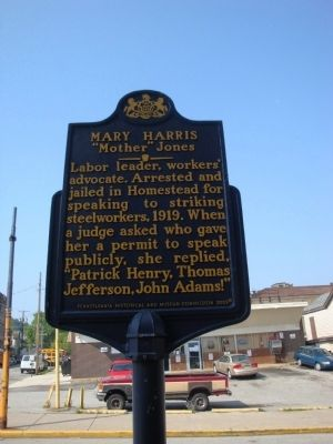 Mary Harris Marker image. Click for full size.