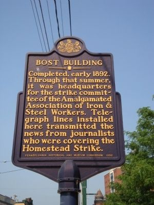 Bost Building Marker image. Click for full size.