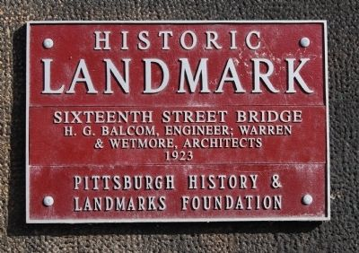 Sixteenth Street Bridge Marker image. Click for full size.