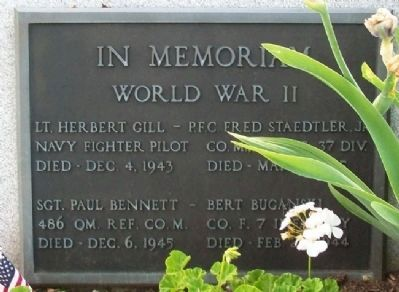 Twinsburg World War II Memorial Marker image. Click for full size.