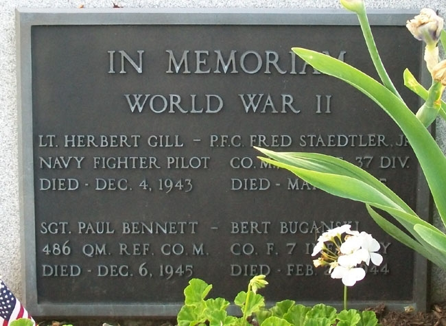 Twinsburg World War II Memorial Marker