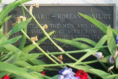 Twinsburg World War II - Korea Memorial Marker image. Click for full size.