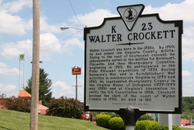 Walter Crockett Marker image. Click for full size.
