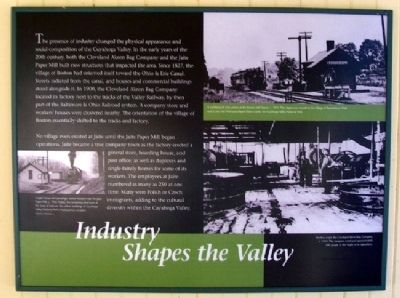 Industry Shapes the Valley Marker image. Click for full size.