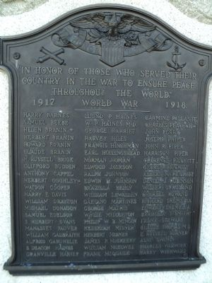 Medford World War I Memorial Marker image. Click for full size.