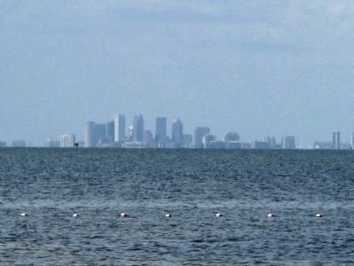 Park view north across the bay to the city of Tampa image. Click for full size.