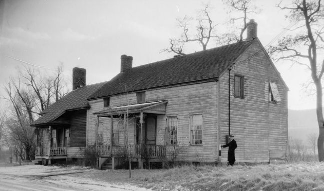 Severson House as Recorded in the Historic American Building Survey image. Click for full size.