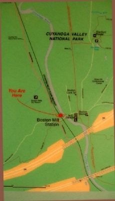 Map on Cuyahoga Valley Scenic Railroad Marker image. Click for full size.