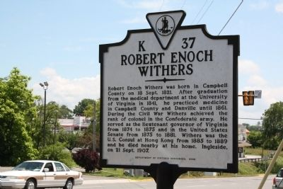 Robert Enoch Withers Marker image. Click for full size.