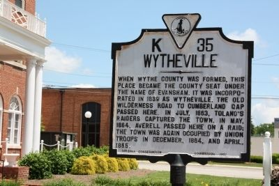 Wytheville Marker image. Click for full size.