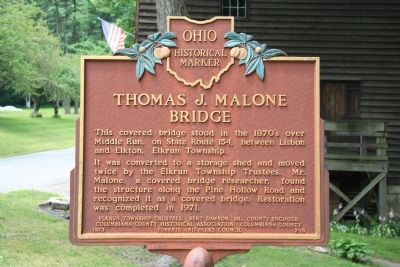 Thomas J. Malone Bridge Marker image. Click for full size.