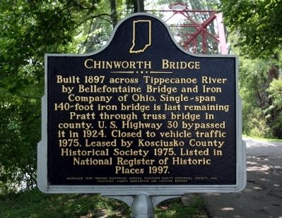 Chinworth Bridge Marker image. Click for full size.