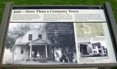 Jaite - More Than a Company Town Marker image. Click for full size.
