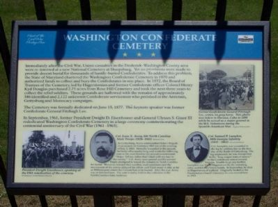 Washington Confederate Cemetery Marker image. Click for full size.