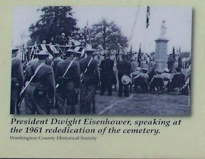 President Dwight D. Eisenhower, speaking at the 1961 rededication image. Click for full size.