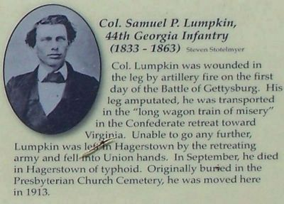 Right lower picture, Col. Samuel P. Lumpkin, 44th Georgia Infantry image. Click for full size.