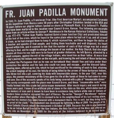 Father Juan Padilla Monument Marker image. Click for full size.