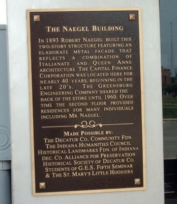 The Naegel Building Marker image. Click for full size.