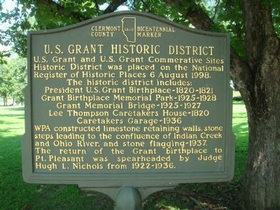 U.S. Grant Historic District Marker image. Click for full size.