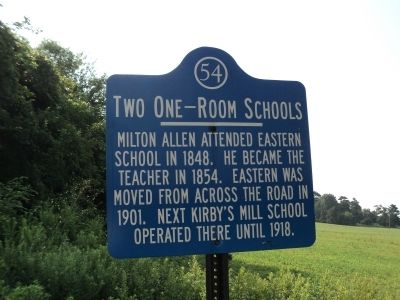 Two One-Room Schools Marker image. Click for full size.