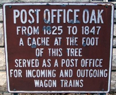 Post Office Oak Marker image. Click for full size.
