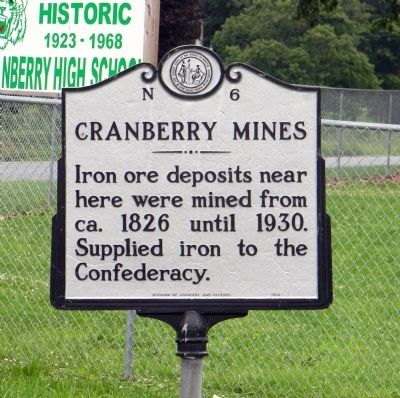 Cranberry Mines Marker image. Click for full size.