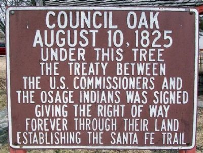 Council Oak Marker image. Click for full size.