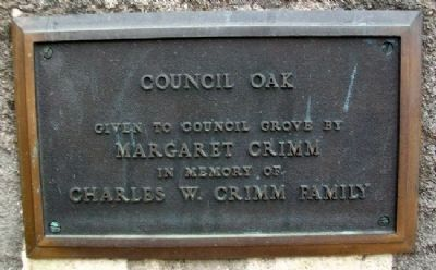 Council Oak Donor Marker image. Click for full size.