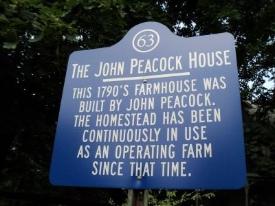 The John Peacock House Marker image. Click for full size.