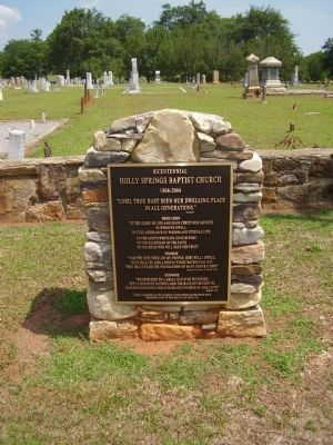 Holly Springs Baptist Church Marker image. Click for full size.