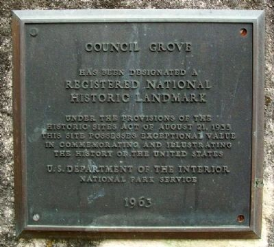 Council Grove NHL Marker image. Click for full size.