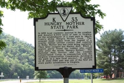 Hungry Mother State Park Marker image. Click for full size.