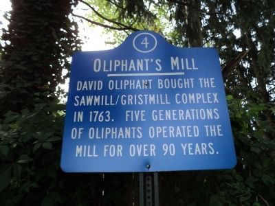 Oliphant's Mill Marker image. Click for full size.