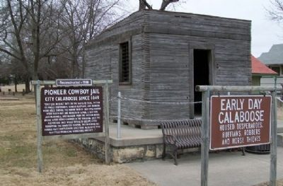 Pioneer Cowboy Jail and Markers image. Click for full size.