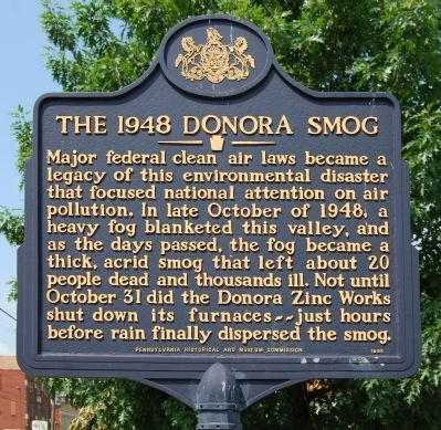 The 1948 Donora Smog Marker image. Click for full size.