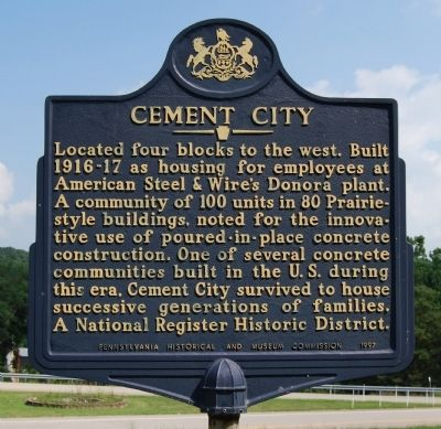 Cement City Marker image. Click for full size.