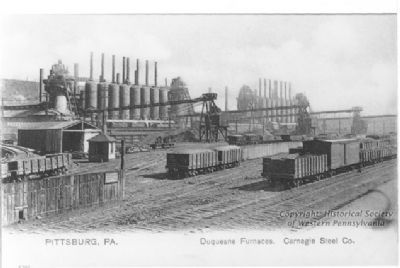 Blast Furnaces at the Duquesne Works in Duquesne, Allegheny County image. Click for full size.