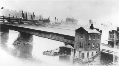 The old Sixteenth Street Bridge over the Allegheny River image. Click for full size.