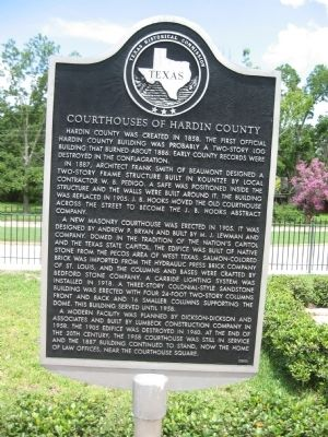 Courthouses of Hardin County Marker image. Click for full size.
