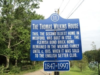 The Thomas Wilkins House Marker image. Click for full size.